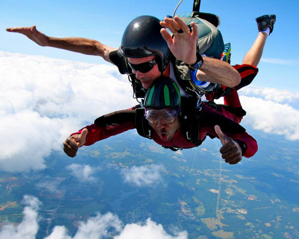 Does skydiving feel like a roller coaster