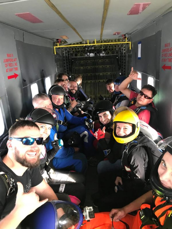 Fun Jumpers in Aircraft at Skydive Monroe near Atlanta