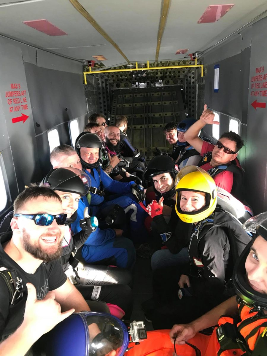 Fun Jumpers in Aircraft at Skydive Monroe near Atlanta