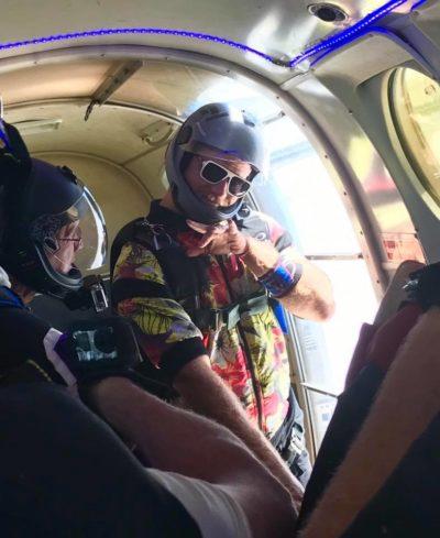 skydiving airplane