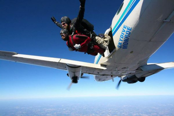 skydiving monroe, skydiving airplane