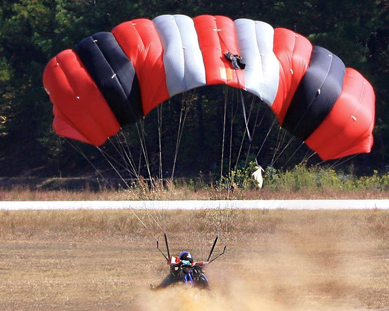 Skydiving Parachute Packing