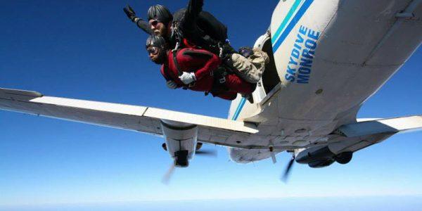 Tandem Skydiving Skydive Monroe