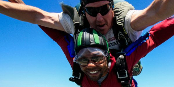 Skydiving with Glasses or Contact