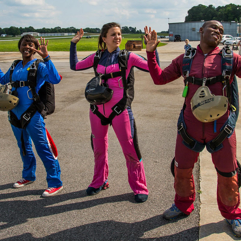 What to wear for skydiving. Don't dress for success