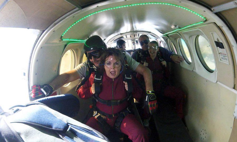 Inside Skydiving Plane