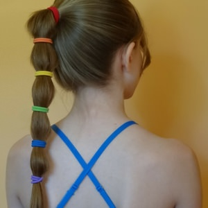 Tied Ponytail for Skydiving