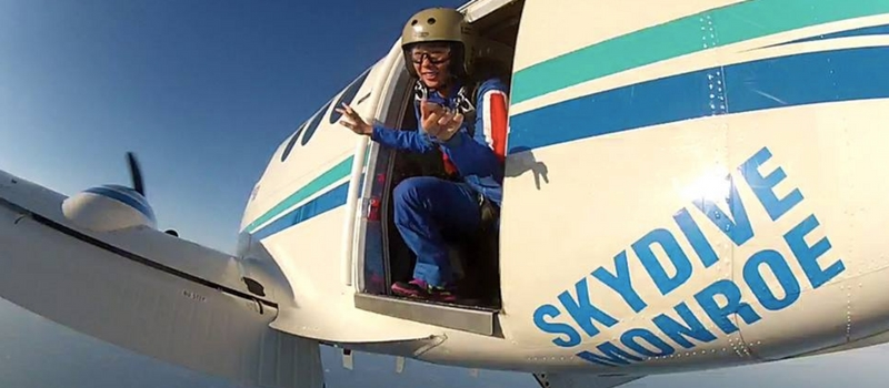 skydiving exits